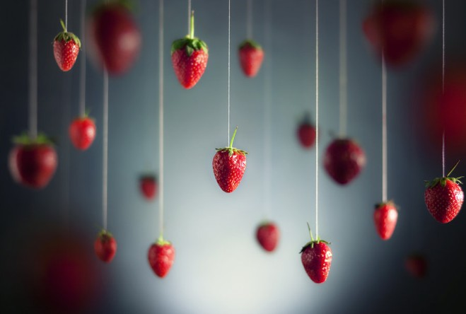 A Rain of Strawberries.