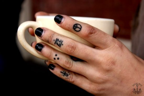 finger tattoo for girls