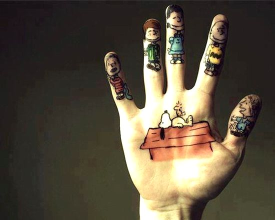 inside hand tattoos