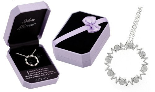 infinity crystal necklace for mother's day