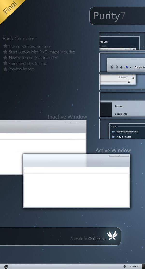 simple grey theme for windows