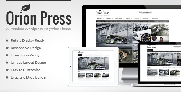 Orion Press Retina and Responsive Magazine Theme