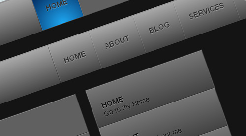 Create a Slick Menu using CSS3