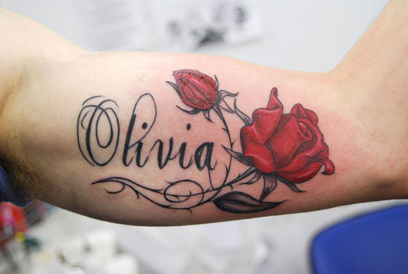 olivia name tattoo