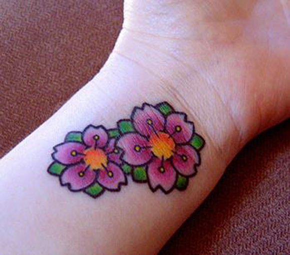 One of the most beautiful flower tattoos