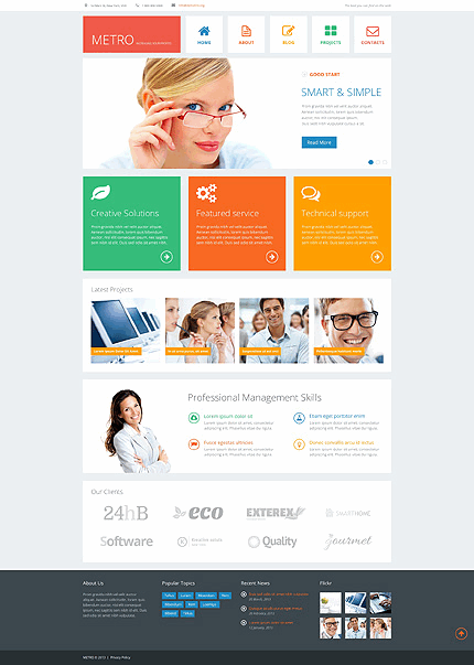Bright Business Consulting WordPress Theme