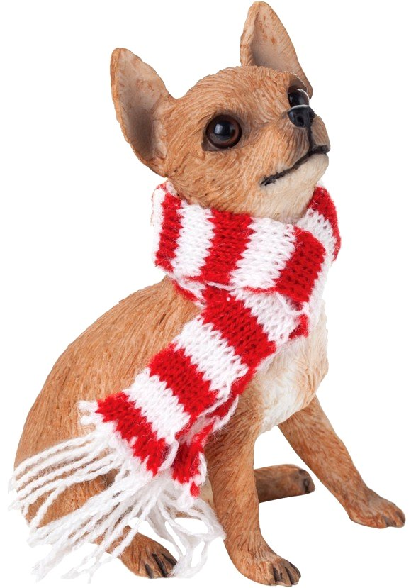 Chihuahua Tan Christmas Holiday Ornament