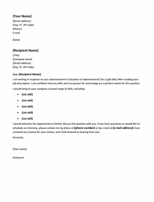 cover letter for chronological resume - Cover Letter For A Resume Template