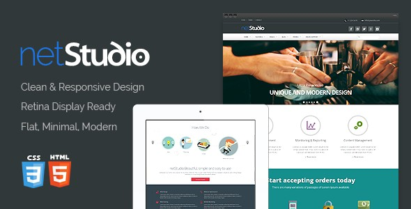 NetStudio - Bootstrap 3 Multi-Purpose Template