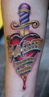 A magnificent and most beautiful tattoo for mom