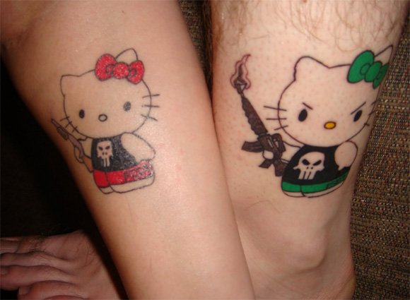 A very beautiful tattoo for couples depicting their love to each other