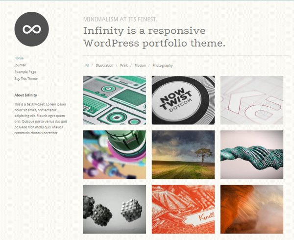 Infinity wordpress theme