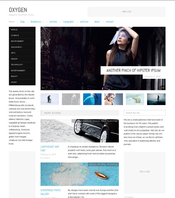 Oxygen Free WordPress Theme