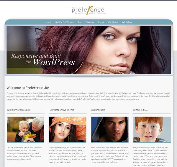Preference Free WordPress Theme