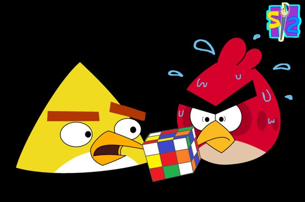 Rubix Cube with Angry Birds