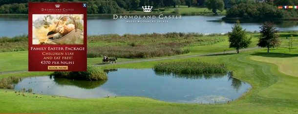 Dromoland Castle has a cool video background based web design
