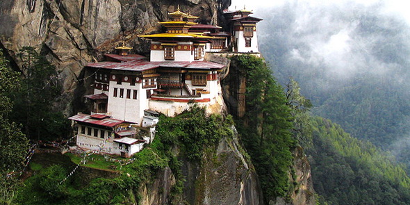 Parso Taktsang is a famous building of Bhutan