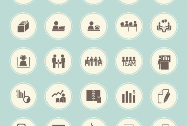 50 Retro Business Icons Set – Free Download