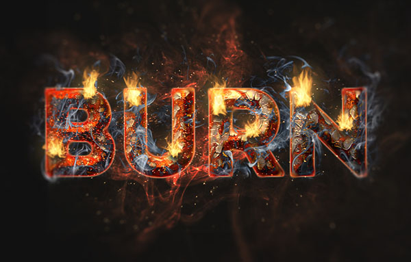 Flaming Rusty Text Effect
