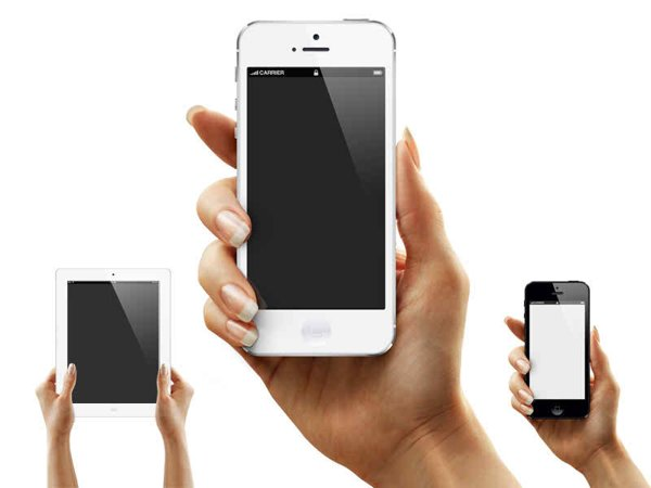 Tanya's Hand – iPhone 5-6 iPad PSD Mockup