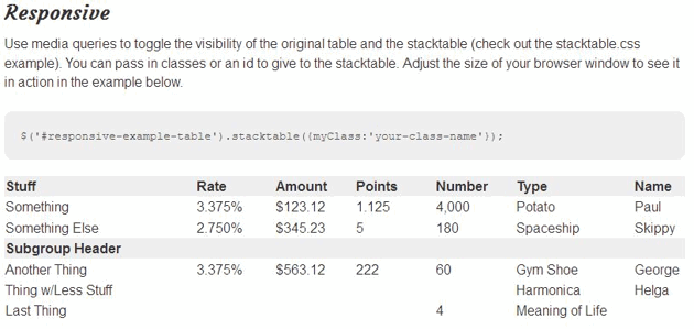 StackTable