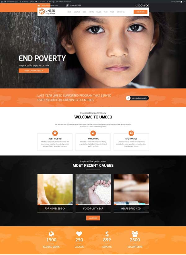 UMEED Charitable Theme