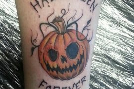halloween forever pumpkin tattoo