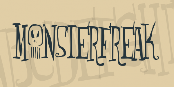 monsterfreak halloween font