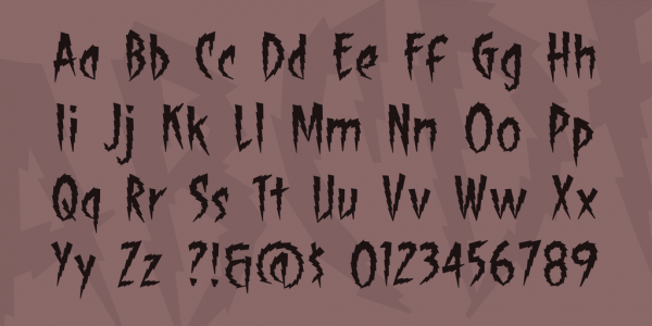 shock therapy halloween font