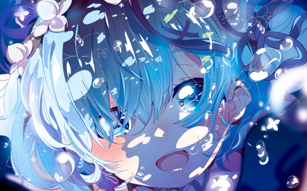 rem wallpaper re zero anime